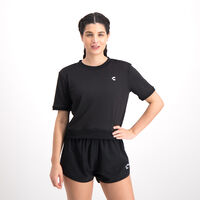 Charly Moda Fitness Sport Cropped Tee for Women