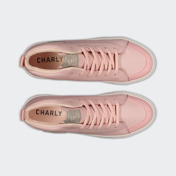 Charly Mid Flip PU Breast Cancer Awareness Moda Street City Sports Boots for Women